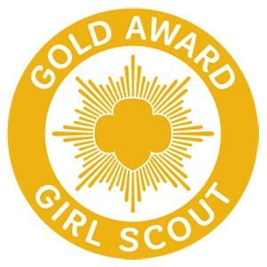 Girl Scout Gold Award pin